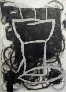 Untitled (F.P.1) 2011 oil and spray paint on canvas